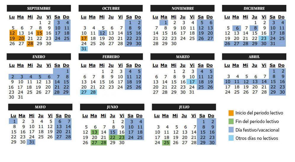 Foto: Calendario escolar del curso 2016-2017 en Castilla-La Mancha (C.Castellón)