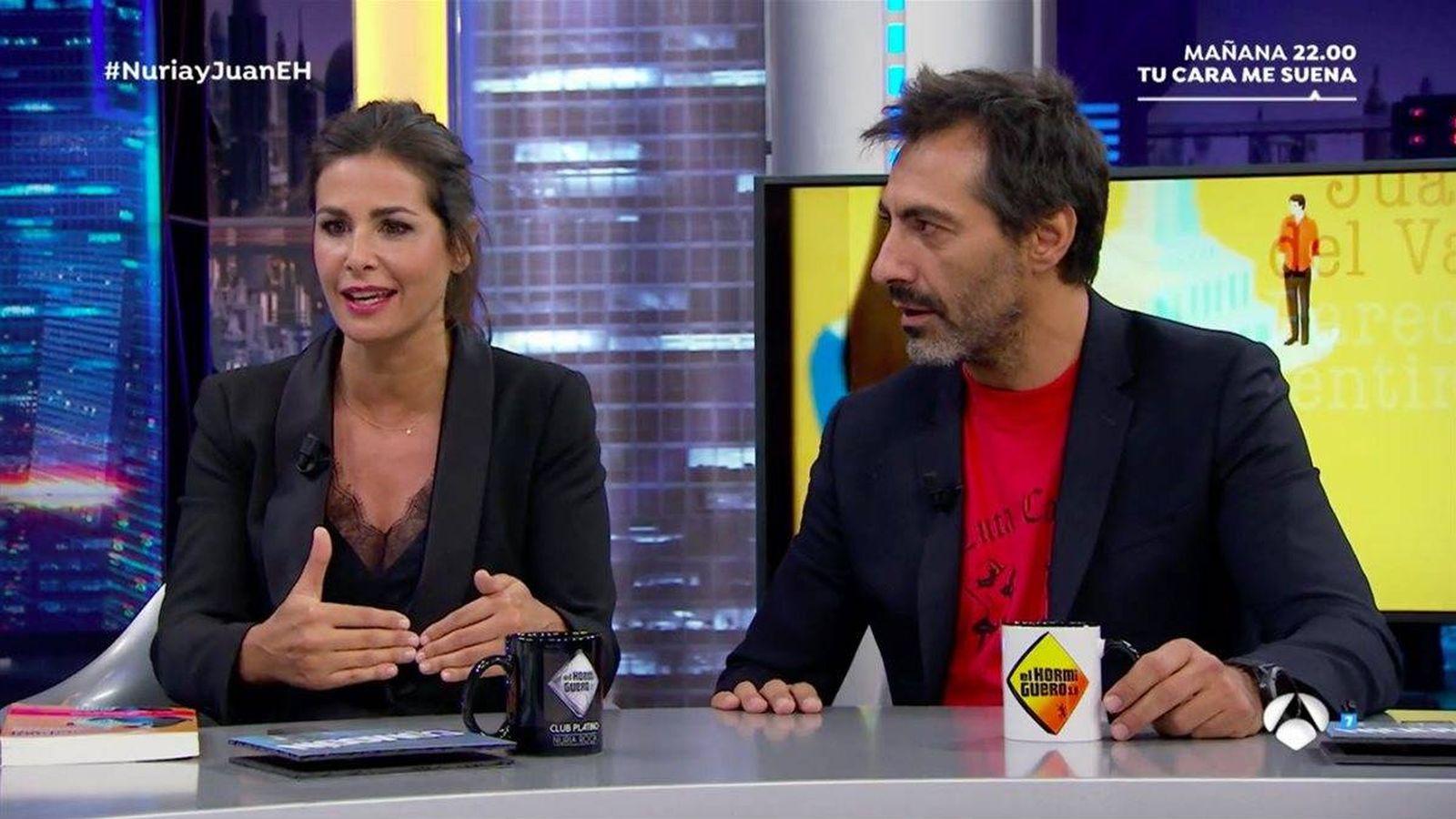 Foto: Nuria Roca y Juan del Val hablan de su relación abierta en 'El hormiguero'.