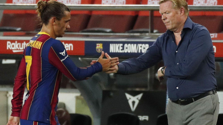 Antoine Griezmann es sustituido el pasado domingo ante el Sevilla. (Reuters)