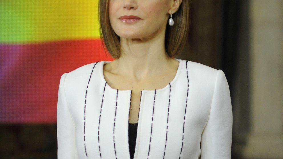 La Reina Letizia y su uniforme de Felipe Varela para los actos de la ONU