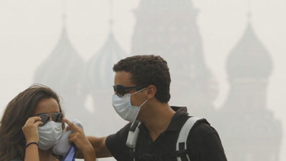 El calor y el humo aumentan al doble la mortalidad en Moscú