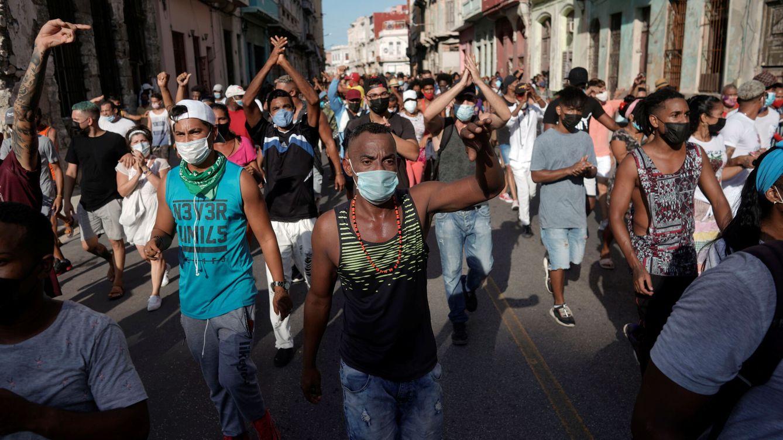 Foto: Protesta contra el Gobierno cubano en La Habana. (Reuters)