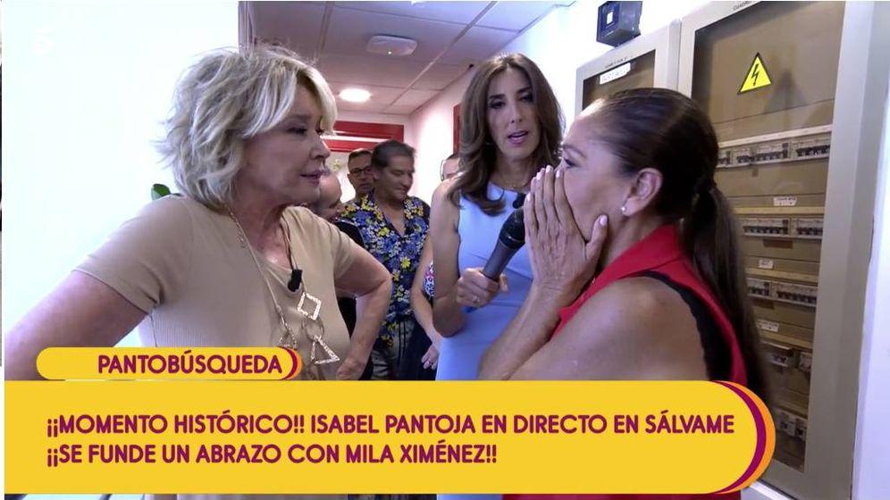Foto: Mila Ximénez se reencuentra con Isabel Pantoja. (Mediaset)