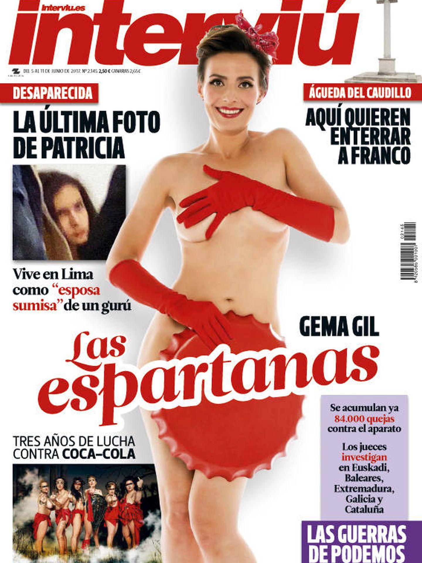 Gema Gil, en la portada de Interviú.
