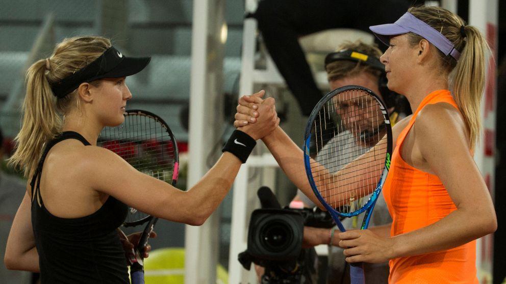 Bouchard sale triunfante del reto con su enemiga la tramposa Sharapova