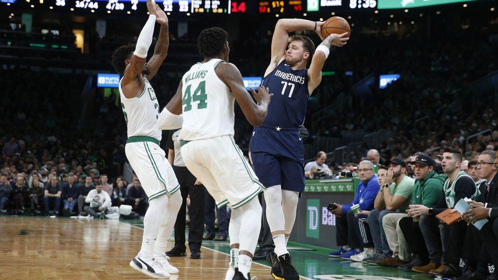 Foto: Luka Doncic, durante el Boston Celtics-Dallas Mavericks jugado el lunes. (USA TODAY Sports)