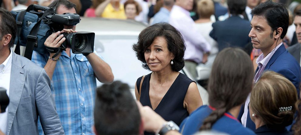 Foto: Ana Patricia Botín, en el funeral por su padre. (EFE)