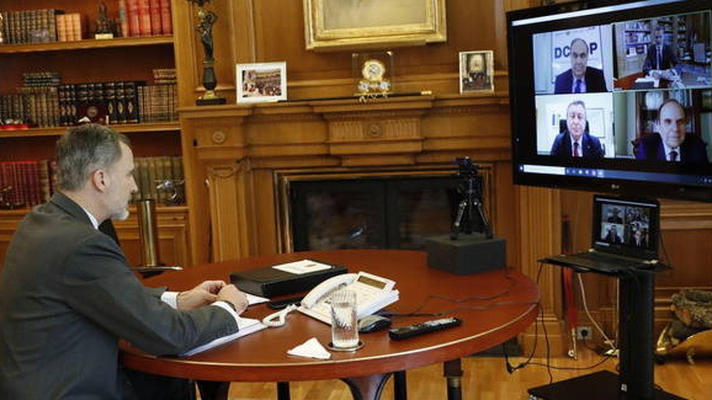Reunión de Felipe VI con las cooperativas. (Dcoop)