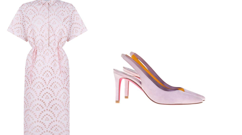 Vestido de The 2nd Skin Co y zapatos de Mascaró.