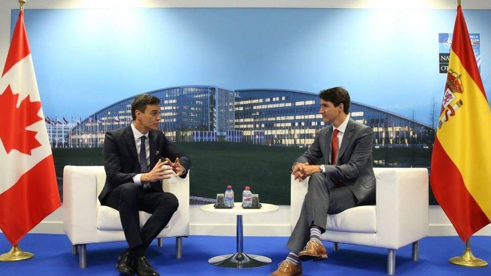 Sánchez viaja a Canadá para escenificar con Trudeau su agenda progresista