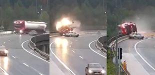 Post de La imprudencia de un conductor mata a un camionero al tirarlo por un precipicio