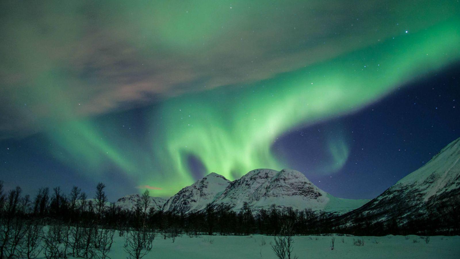 Foto: Una aurora boreal sobre el cielo de Noruega (Foto: Roberto Carlos López)
