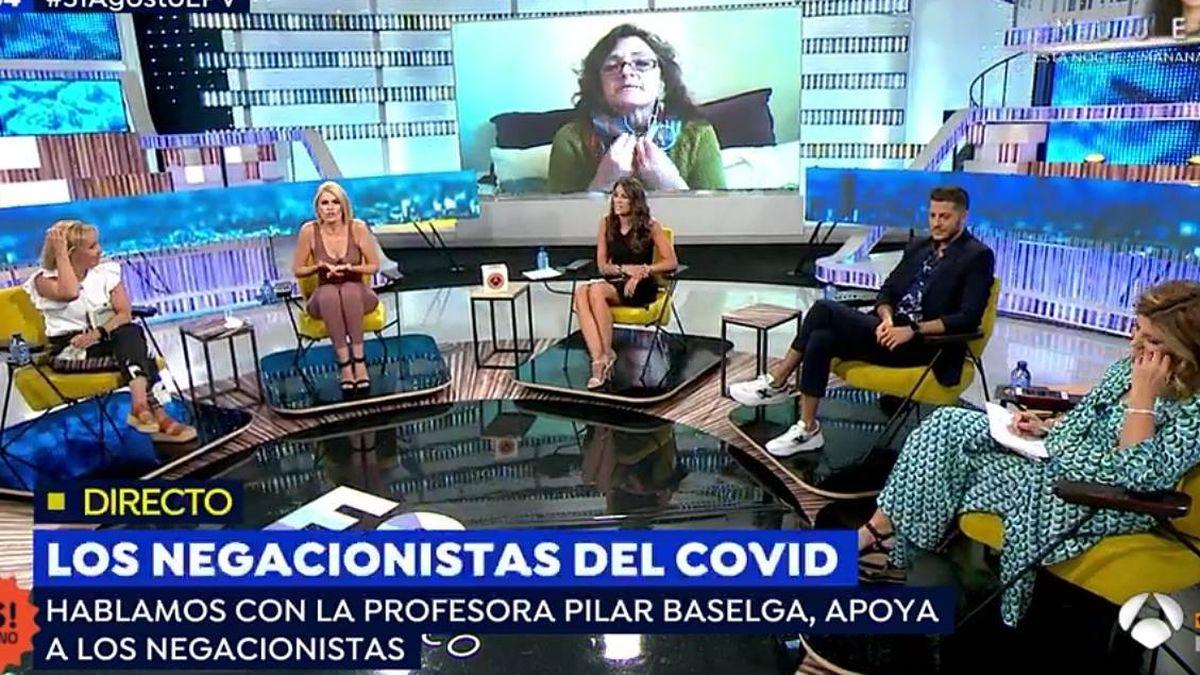 "A mí no se me invita para llamarme majadera"": una profesora negacionista indigna a 'Espejo público'"