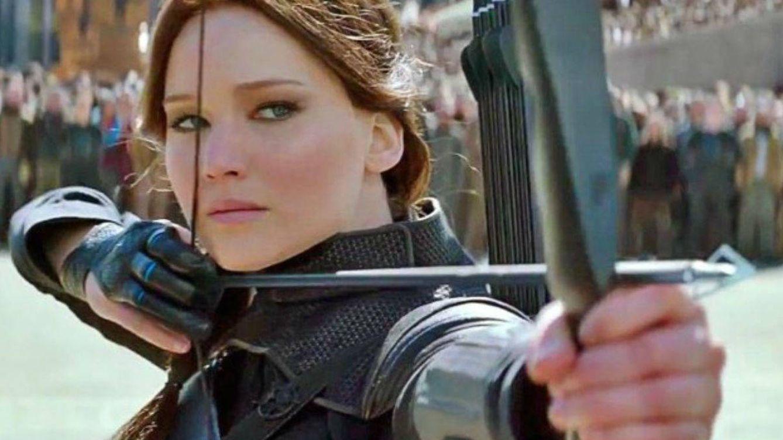 Foto: Jennifer Lawrence durante el rodaje de 'Los juegos del hambre'