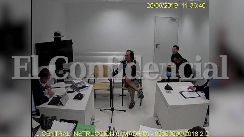 Foto: El CDR Jordi Ros en su declaración ante la Audiencia Nacional