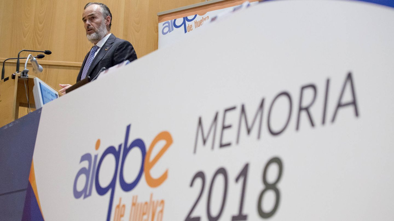 Carlos Ortiz, presidente de la patronal industrial de Huelva. (Aiqbe)