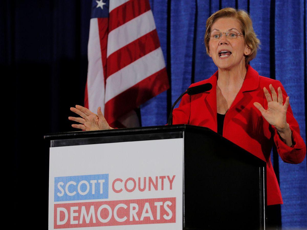 Foto: La candidata demócrata a la presidencia Elizabeth Warren (Reuters)