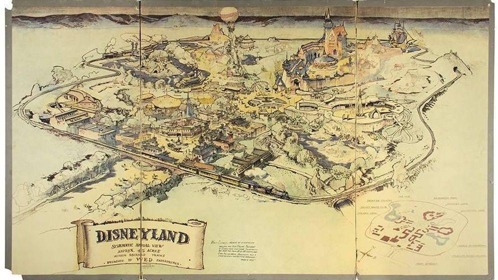 Foto: Así es el mapa de Disneyland que Van Eaton Galleries va a subastar en junio