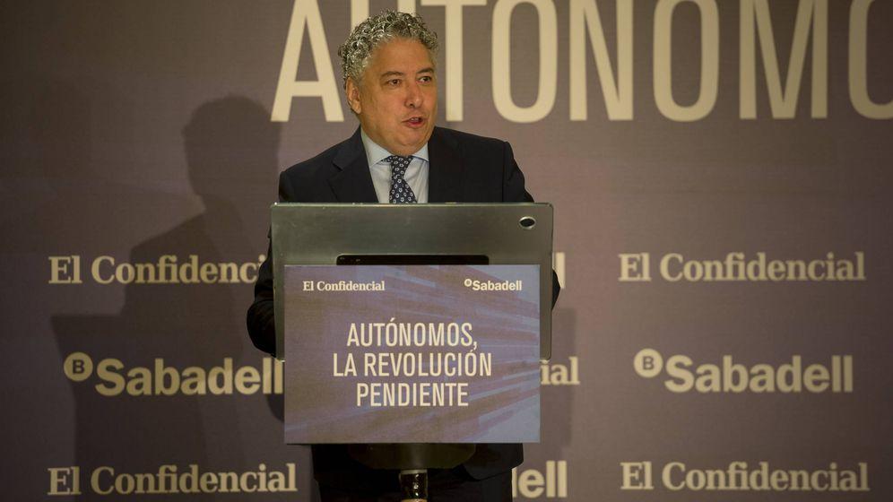 Foto: El secretario de Estado de Seguridad Social, Tomás Burgos, en la jornada de autónomos de El Confidencial (Goyo Conde)