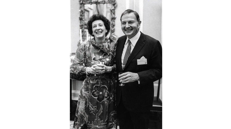 Foto: Peggy y David Rockefeller en los años 70.