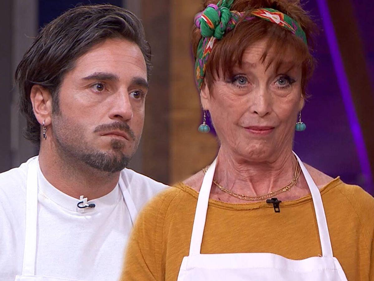 Foto: David Bustamante y Verónica Forqué, en 'Masterchef Celebrity'. (TVE)