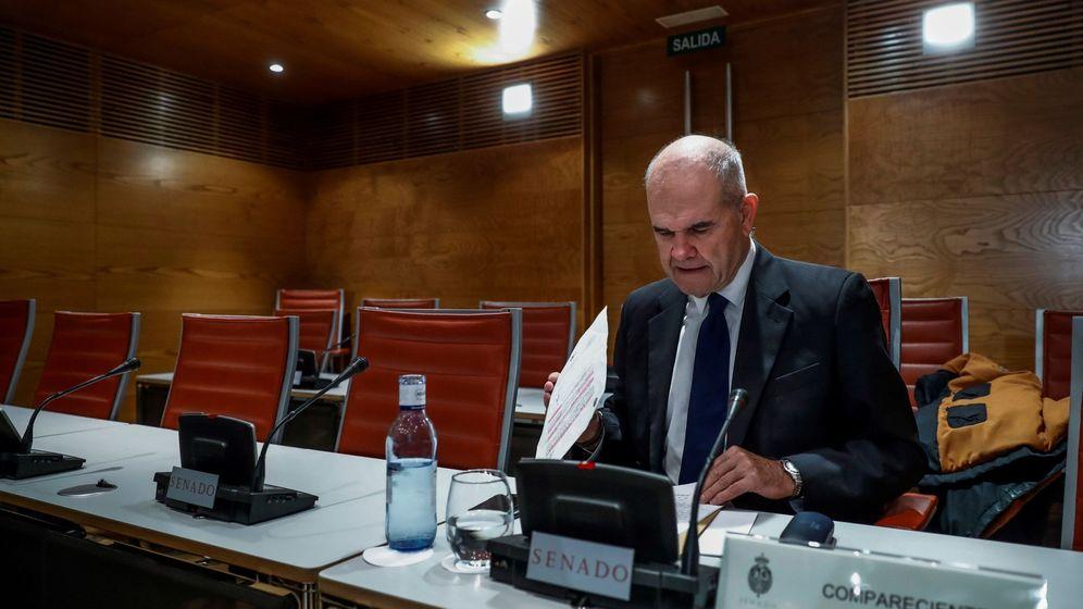 Foto: Manuel Chaves comparece en el Senado. (EFE)