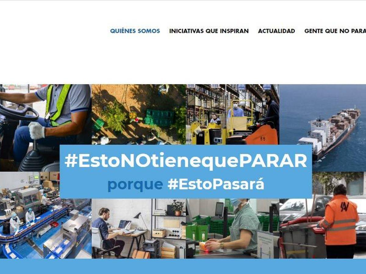 Foto: Web de la plataforma empresarial #estonotienequeparar.