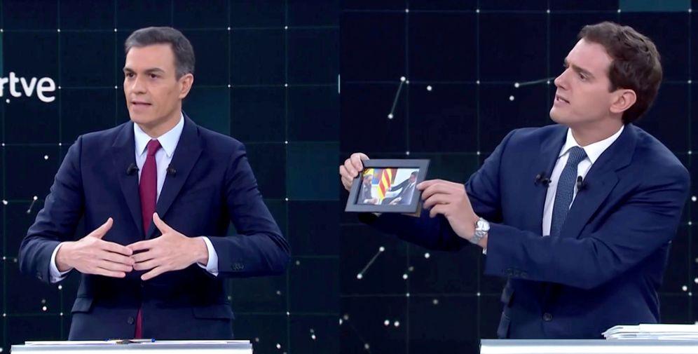 Foto: Sánchez y Rivera en uno de los debates (EFE)