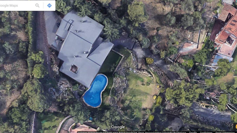 Vista aérea de la casa de Piqué en Pedralbes.