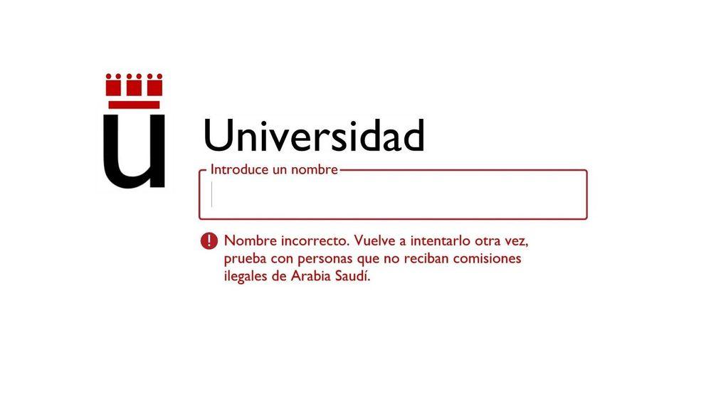 Alumnos y profesores piden que la Universidad Rey Juan Carlos cambie de nombre