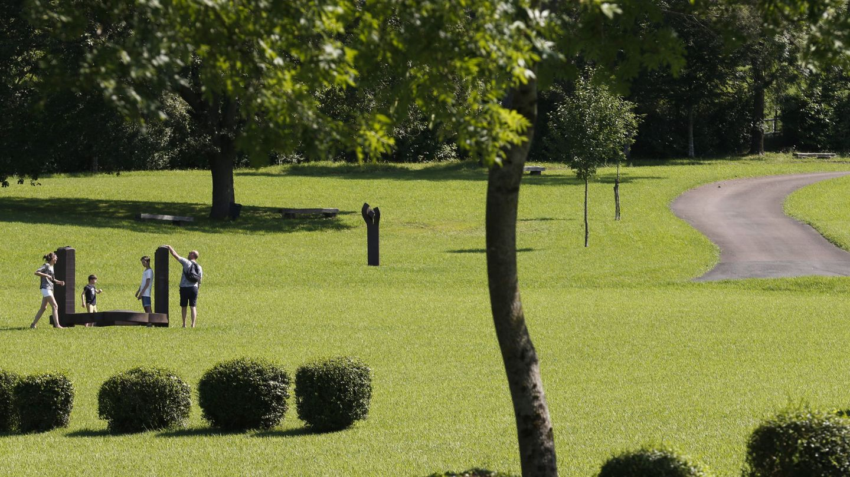 Imagen de los jardines del Chillida Leku.