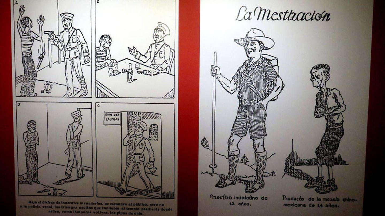 Carteles de la exposición mexicana. (J. B.)