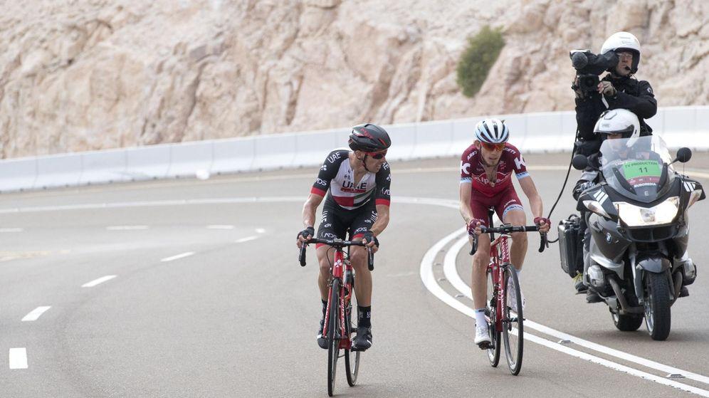 Foto: Rui Costa junto a Ilnur Zakarin en la etapa del sábado.