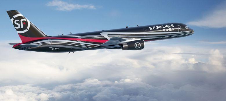 Foto: Uno de los aviones convencionales de la compañía china SF Express