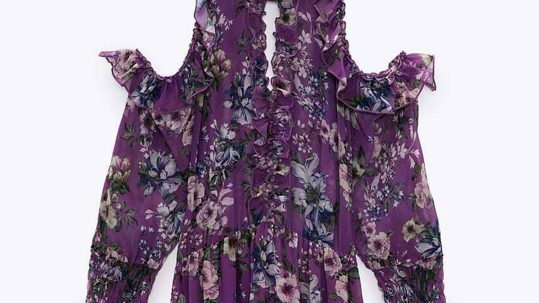 Vestido de invitada de Zara. (Cortesía)