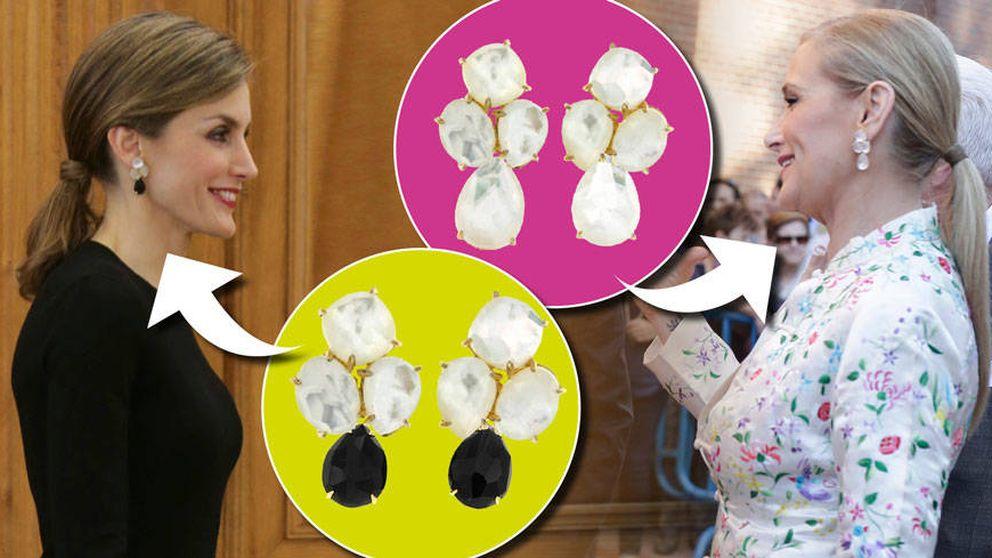 Los pendientes que comparten la Reina Letizia y Cristina Cifuentes