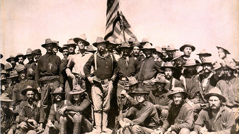 Foto: Roosevelt y sus 'Rough Riders' en el monte de San Juan. (CC/William Dinwiddie)