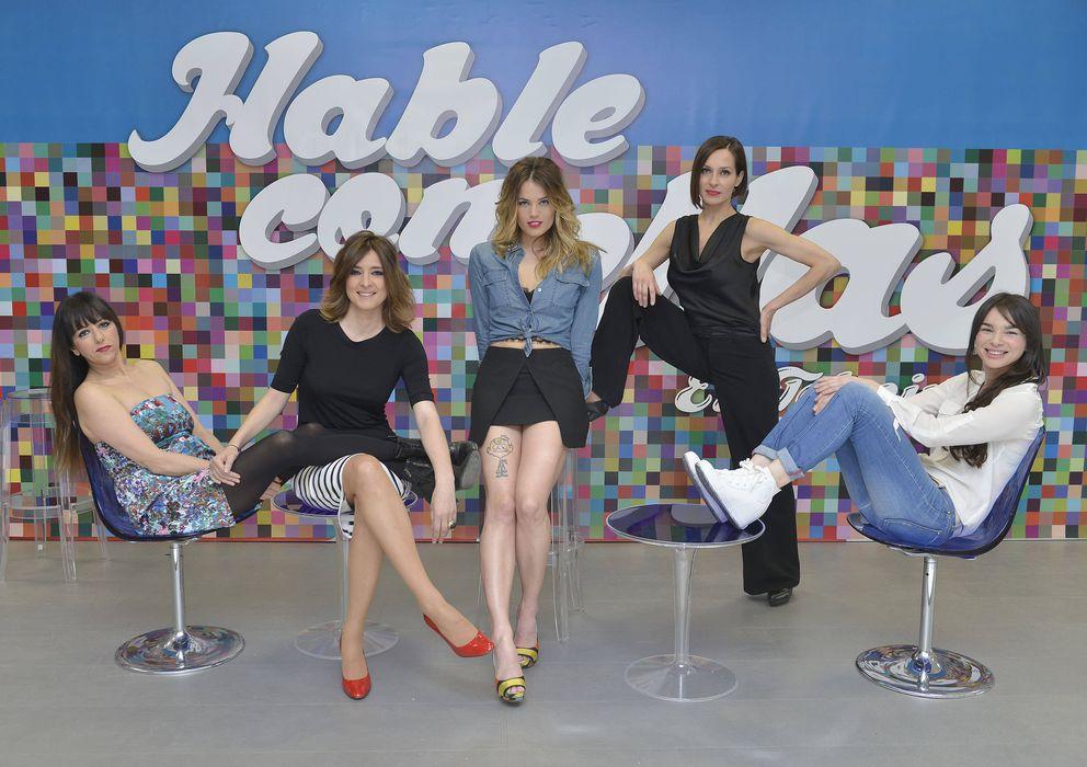 Foto: Alyson Eckmann (centro), durante la presentación del programa 'Hable con ellas' de Telecinco (Gtres)