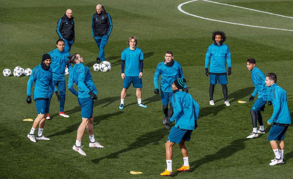 Foto: Entrenamiento del Real Madrid antes del partido de octavos contra el PSG | EFE