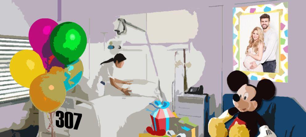 Foto: La habitación 327 de la clínica Teknon espera a Shakira para dar a luz