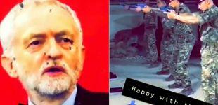 Post de Soldados británicos realizan pruebas de tiro en Afganistán 'disparando' a Corbyn