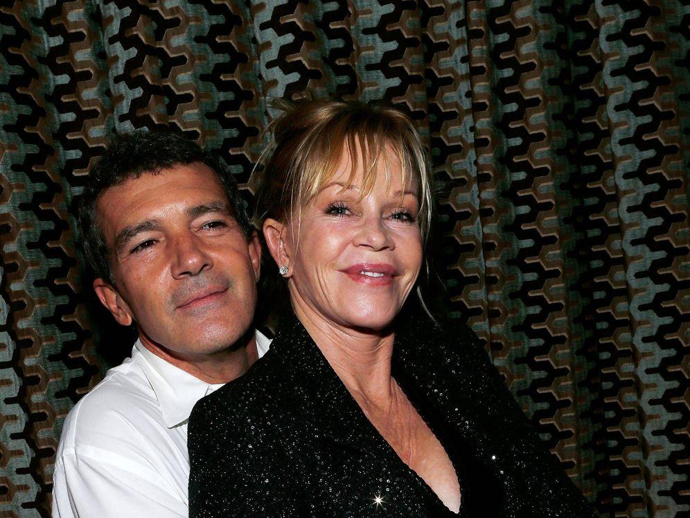 Foto: Antonio y Melanie, en una foto de archivo. (Getty)