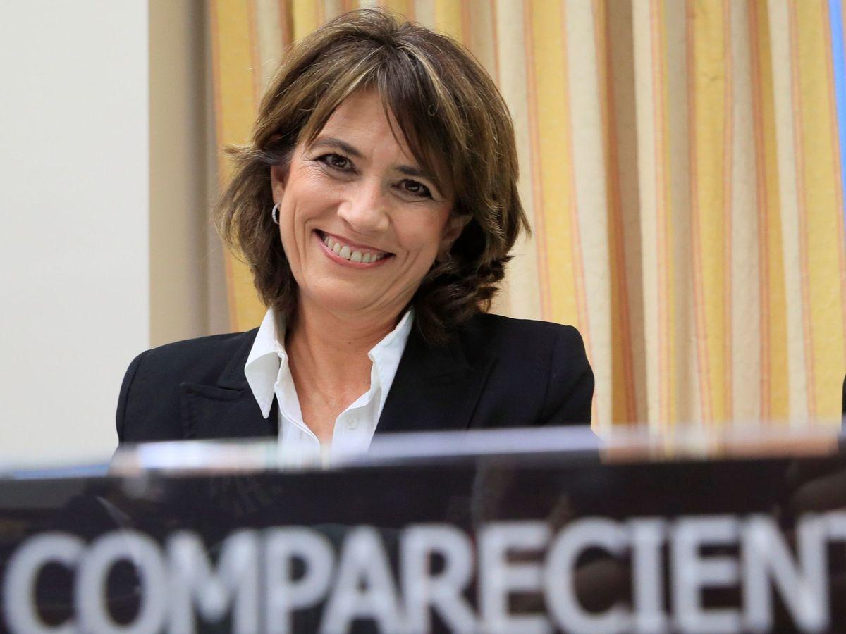 Foto: Delgado, ante la Comisión de Justicia. (EFE)