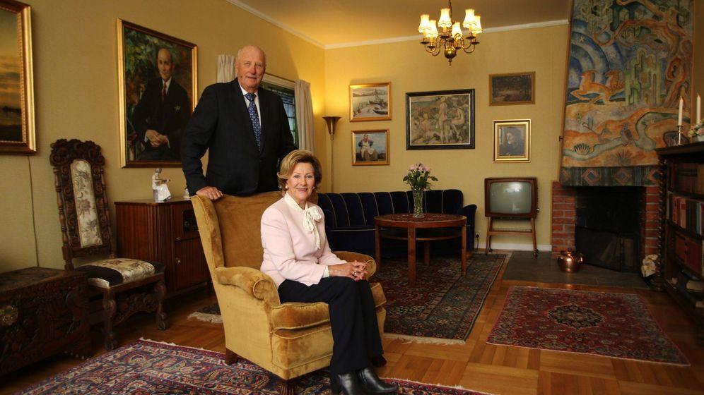 Foto: Sonia y Harald de Noruega en el Museo Maihaugen. (EFE)