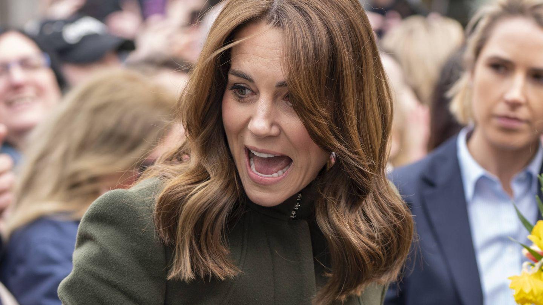 Kate Middleton, una semana antes de la cuarentena. (Getty)
