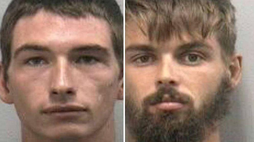 Foto: Timothy Kepke, de 27 años, y Noah Osborne, de 22, detenidos por la policía (Foto: Sheriff de Martin County)