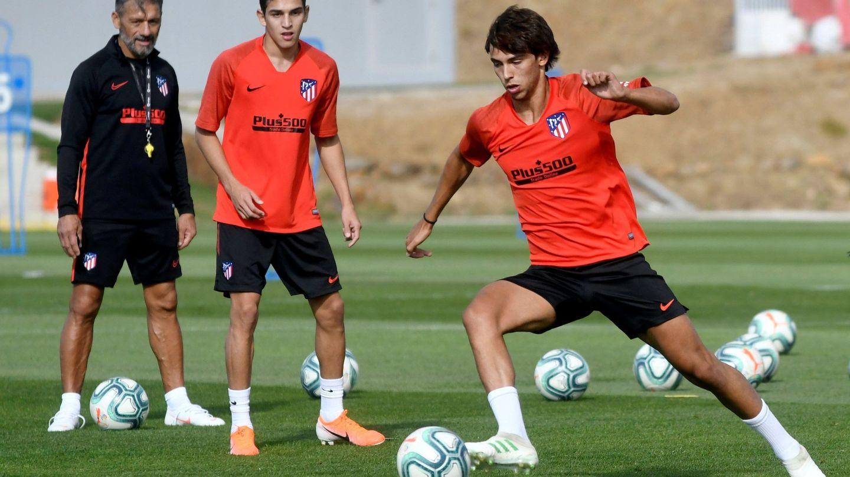 Joao Félix en el entrenamiento de pretemporada con el Atlético de Madrid. (Efe)