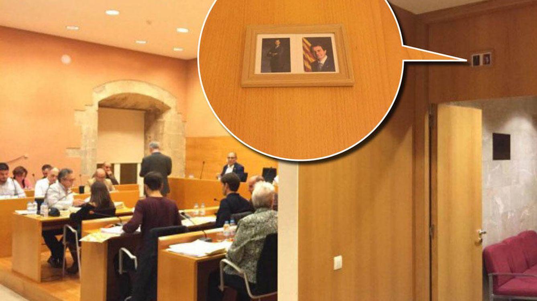 Foto: Imagen del salón de plenos del Ayuntamiento de Torredembarra (Foto: ©Guillem Bargalló)