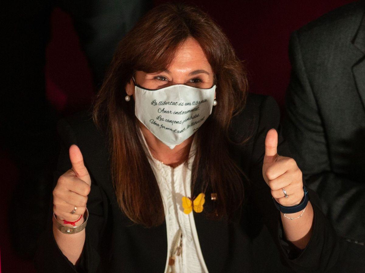 Foto: La nueva presidenta del Parlament, Laura Borràs. (EFE)