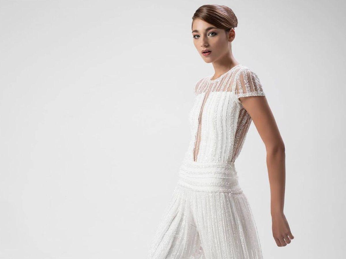 Foto: Uno de los vestidos de novia vistos en la Madrid Bridal Fashion Week 2021. (Instagram @isabelzapardiez)